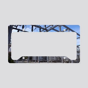 Electricity substation License Plate Holder
