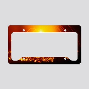 Lava flow and vent License Plate Holder
