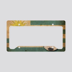 vintageUruguay5 License Plate Holder