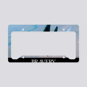 Military Poster: Brave men st License Plate Holder
