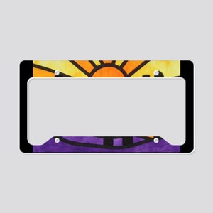 desert-daze-poster License Plate Holder