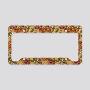 Mums Pattern License Plate Holder