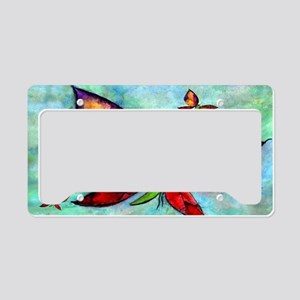 Butterfly Art License Plate Holder