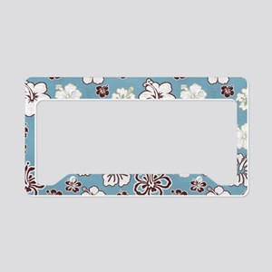 Tropical Hibiscus Carolina Bl License Plate Holder