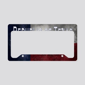 Republic of Texas License Plate Holder