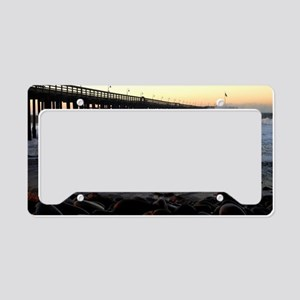 Ocean Wave Storm Pier License Plate Holder