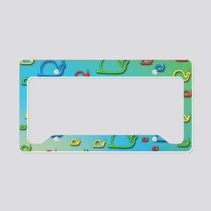 Colorful snails License Plate Holder