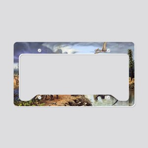 Early Cretaceous life, artwor License Plate Holder