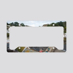View of Polperro fishing vill License Plate Holder