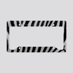 Zebra Texture License Plate Holder