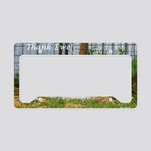 Thank You Cards ~ Buddy Lambs License Plate Holder
