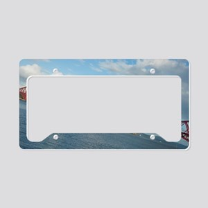 angled forth bridge License Plate Holder