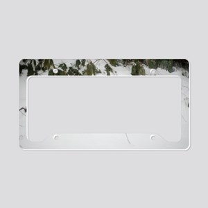 deep snow fall License Plate Holder