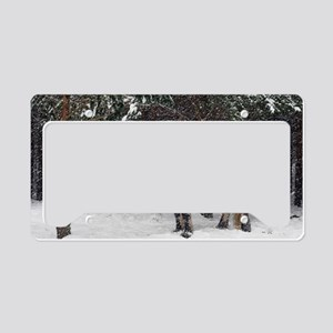 Highland pony License Plate Holder