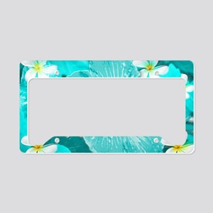 Blue Hawaii License Plate Holder