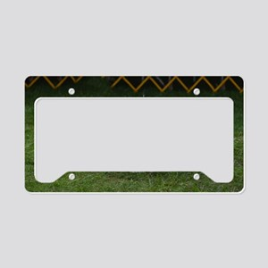 Cute White Bichon Frise License Plate Holder