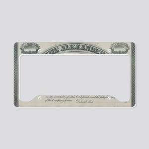 alexander manufacturing stock License Plate Holder