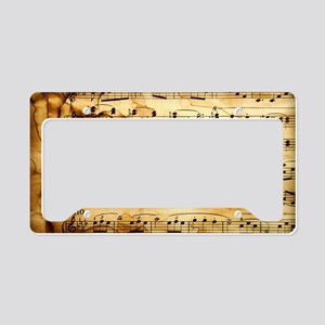 Classical Musical Notes License Plate Holder