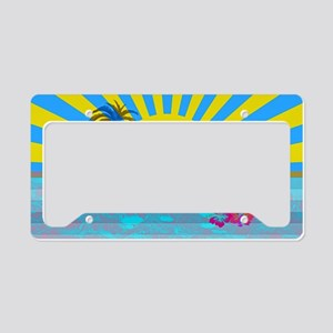Hawaii Bright Colorful Colors License Plate Holder