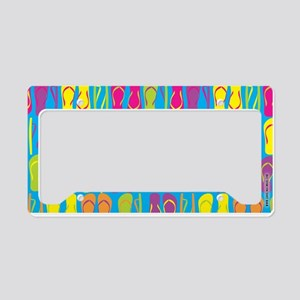 Flip Flops Sand Bright License Plate Holder
