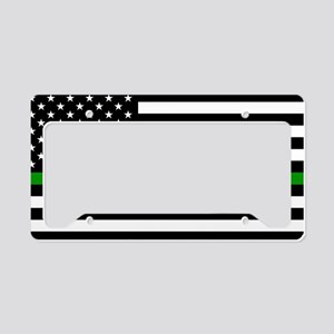 U.S. Flag: The Thin Green Lin License Plate Holder