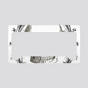 poison steampunk skeleton sku License Plate Holder