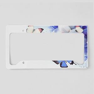 Blue Iris License Plate Frames - CafePress