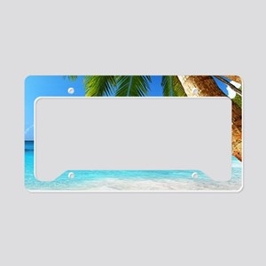 Tropical Island License Plate Holder