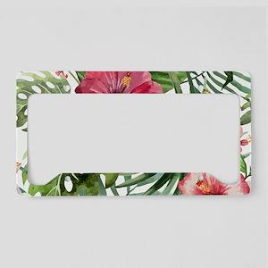 Tropical Flower License Plate Frames Cafepress