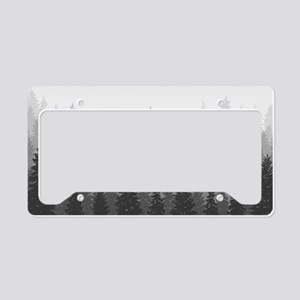 Gray Forest License Plate Holder