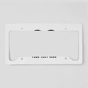 Thin Blue Line Aluminum License Plate Frame - CafePress