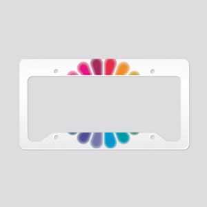 Om Rainbow Flower License Plate Holder