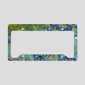 Irises by Vincent Van Gogh License Plate Holder