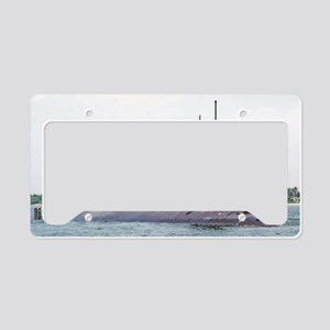 greenling large framed print License Plate Holder