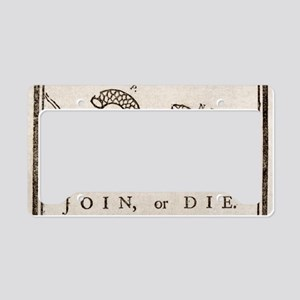 Join Or Die License Plate Frames Cafepress