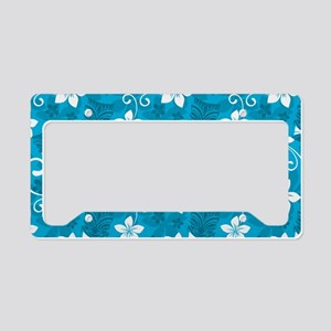 Tropical Floral Tiki Turquois License Plate Holder