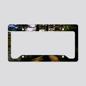 Along The Rural Road License Plate Holder