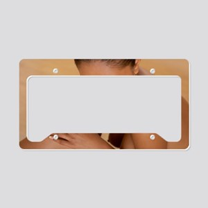 Nude woman License Plate Holder
