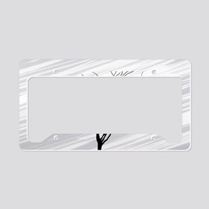 laptop_Winter Tree White License Plate Holder