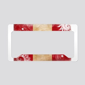 Peru Flag License Plate Holder