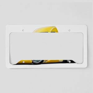 2-Kenworth 660 Yellow Truck License Plate Holder