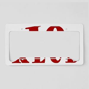 TEN KLUB License Plate Holder