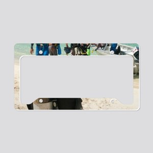 Going for a scuba dive License Plate Holder