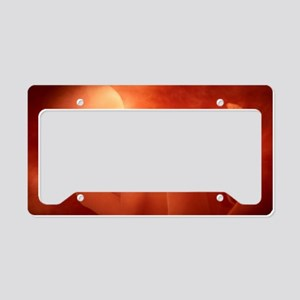 Human foetus in the womb, art License Plate Holder