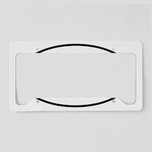 sticker_oval_00_square_dot_ke License Plate Holder