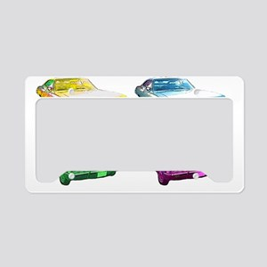 Pop art Spn cars License Plate Holder