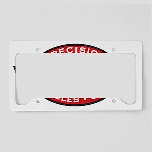 WaterfordLogoRed-Black-WhiteV License Plate Holder