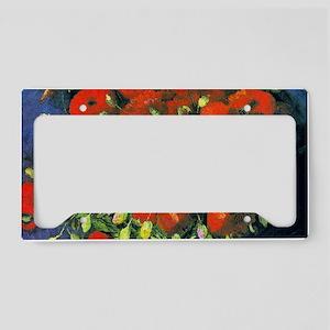 Clutch VG Poppies License Plate Holder