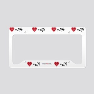 Heartbeat = Life, License Plate Holder
