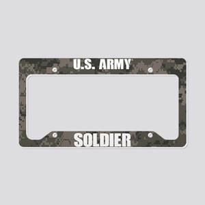 U.S. Army Soldier Camo License Plate Holder